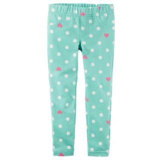 Girls 4-8 Carter's Polka Dot & Heart Jeggings