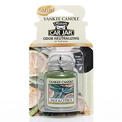 Yankee Candle Car Jar Sage & Citrus Air Freshener