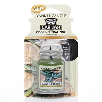 Yankee Candle Car Jar Sage & Citrus Air Freshener