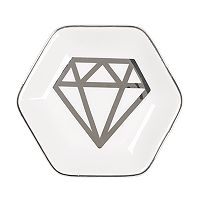 Diamond Graphic Ceramic Trinket Tray