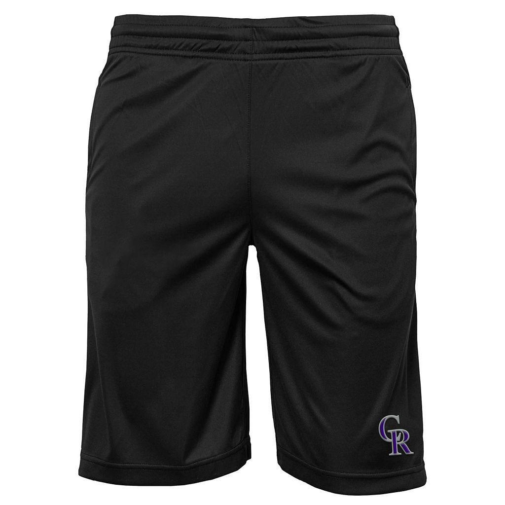 Boys 8-20 Colorado Rockies Mesh Shorts