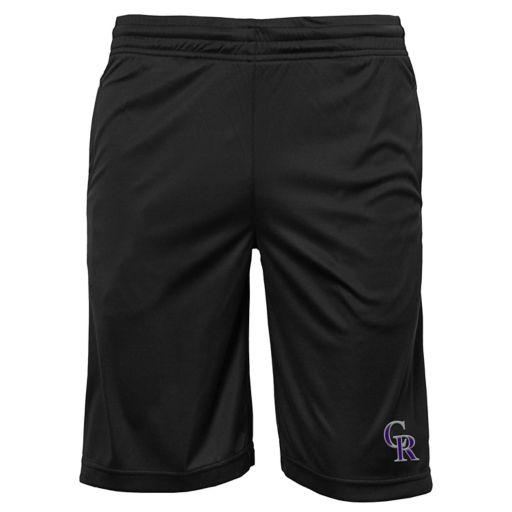 Boys 8-20 Colorado Rockies Mesh Shorts