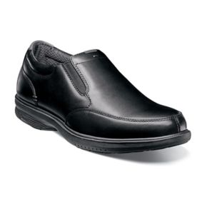 Nunn Bush Myles St. Men's Moc Toe Slip On Dress Shoes