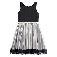Girls 7-16 Emily West Glitter Pleated Skirt Dress