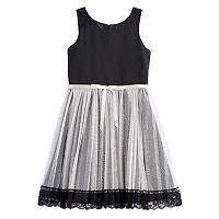 Girls 7-16 Emily West Glitter Pleated Skirt Dress