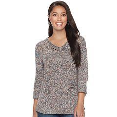 Women's SONOMA Goods for Life™ Pointelle V-Neck Sweater