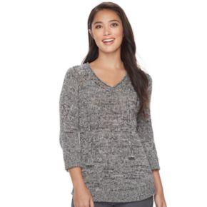 Women's SONOMA Goods for Life? Pointelle V-Neck Sweater