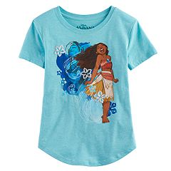 Disney's Moana Girls 7-16 Spirit Floral Glitter Graphic Tee