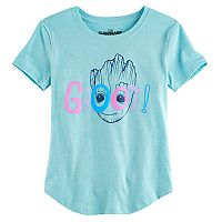 Girls 7-16 Guardians of the Galaxy Vol. 2 Groot Face Graphic Tee