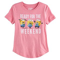 Girls 7-16 Minions 'Ready for the Weekend' Graphic Tee