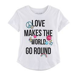 Girls 7-16 'Love Makes the World Go Round' Graphic Tee
