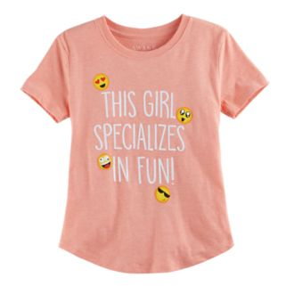 """Girls 7-16 """"This Girl Specializes in Fun"""" Graphic Tee"""