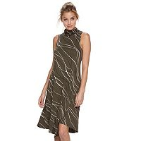 Women's Apt. 9® Asymmetrical Mockneck Shift Dress