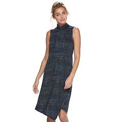 Women's Apt. 9® Asymmetrical Mockneck Shift Dress
