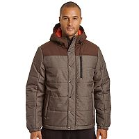 Men's Champion Colorblock Quilted Hooded Puffer Jacket