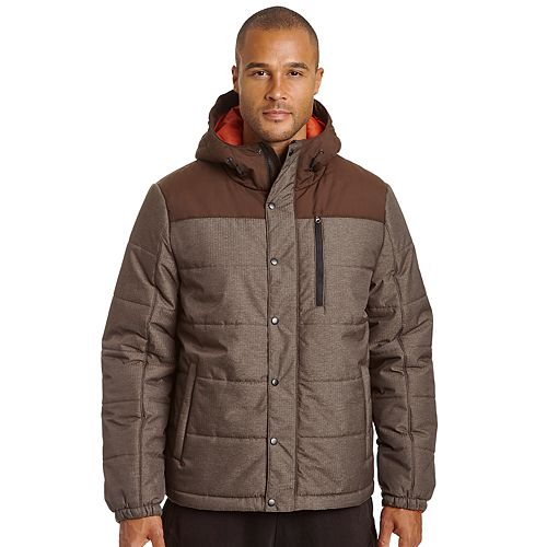 4365249833 Men s Champion Colorblock Quilted Hooded Puffer Jacket