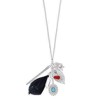 Mudd® Owl, Leaf & Feather Charm Necklace