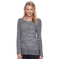 Petite Dana Buchman Mixed-Stitch Cardigan