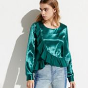 k/lab Ruffle Trim Blouse
