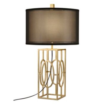Catalina Lighting Double Shade Geometric Table Lamp