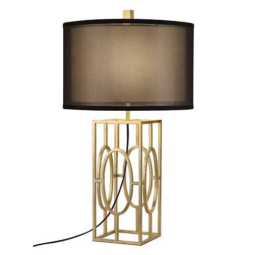 Catalina Lighting Double Shade Geometric Table Lamp
