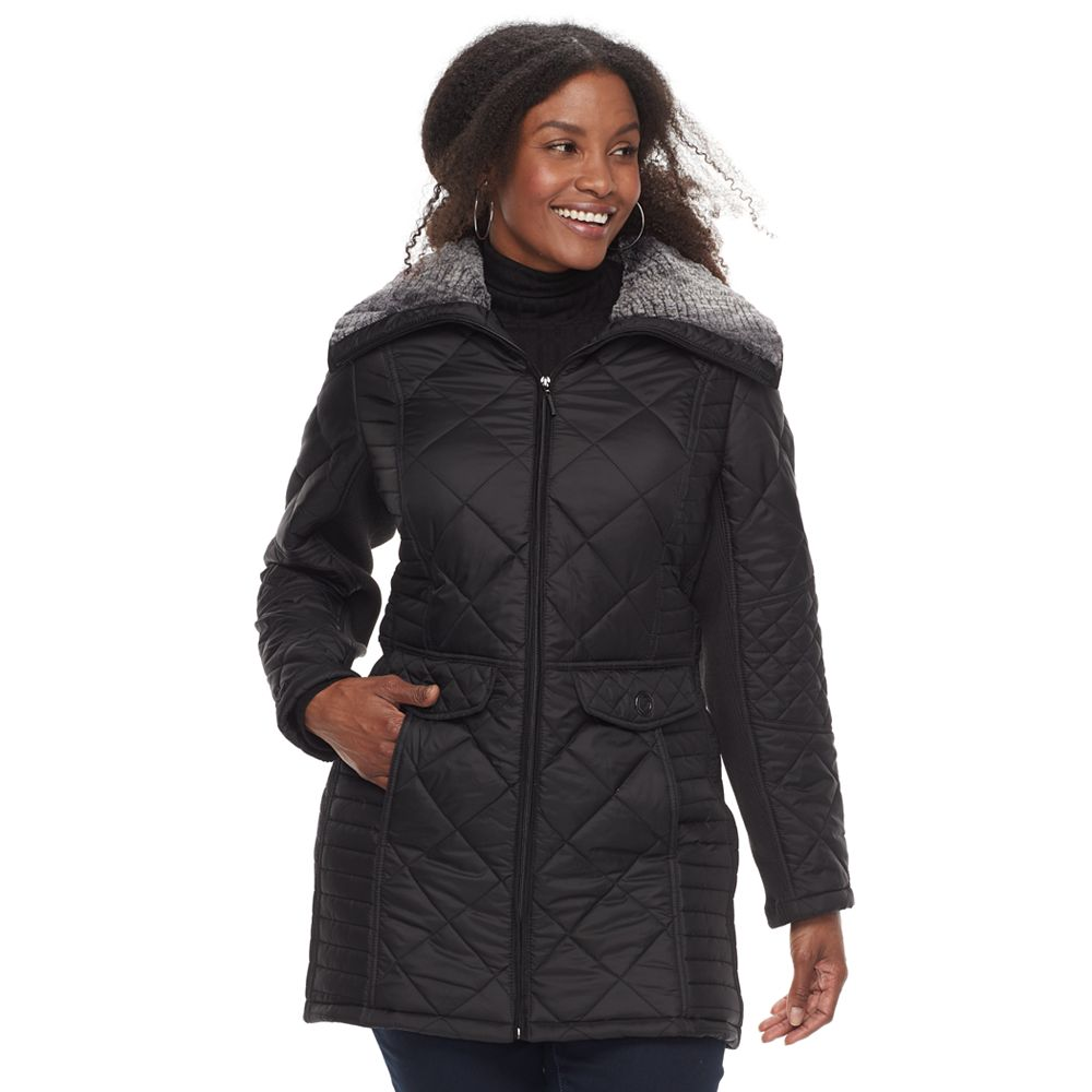 Size Weathercast Ribbed Quilted Jacket : quilted jacket plus size - Adamdwight.com