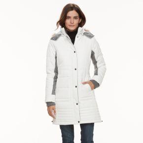 Women's Weathercast Mixed-Media Faux-Fur Trim Puffer Jacket