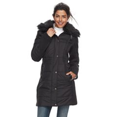 Women's Weathercast Faux-Fur Trim Puffer Jacket