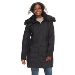 Plus Size Weathercast Faux-Fur Trim Puffer Jacket