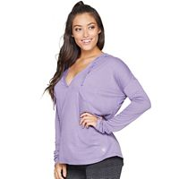 Women's Colosseum Scenic Route Hooded Long Sleeve Top