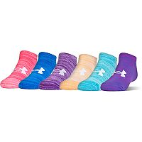 Girls 7-16 Under Armour 6 pkSpace-Dye No-Show Socks