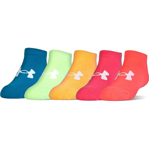 Girls 7-16 Under Armour 6-pk. Solid No-Show Socks