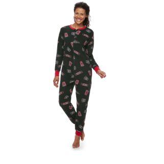 Women's Jammies For Your Families Movie Night One-Piece Fleece Pajamas