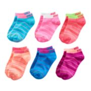 Girls 4-16 GOLDTOE 6-pk. Slogan Liner Socks