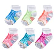 Girls 4-16 GOLDTOE 6-pk Wavy Athletic Quarter Socks