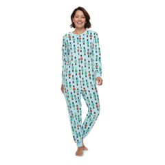 Women's Jammies For Your Families Nutcracker One-Piece Fleece Pajamas