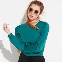 k/lab Green Crop Sweatshirt