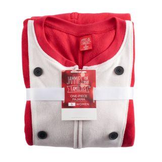 Women's Jammies For Your Families Santa Suit One-Piece Fleece Pajamas