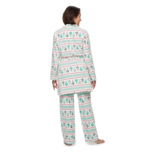 Women's Jammies For Your Families Christmas Tree Microfleece Robe