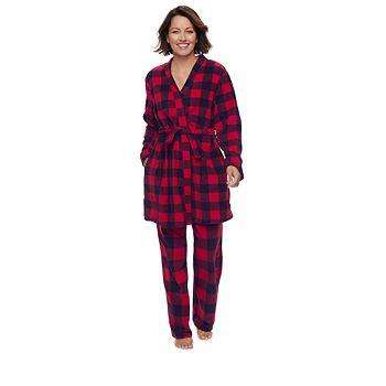 Women's Jammies For Your Families Buffalo Plaid Microfleece Robe