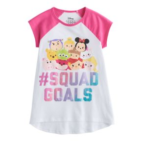 "Disney's Tsum Tsum ""#Squad Goals"" Girls 7-16 High-Low Graphic Tee"