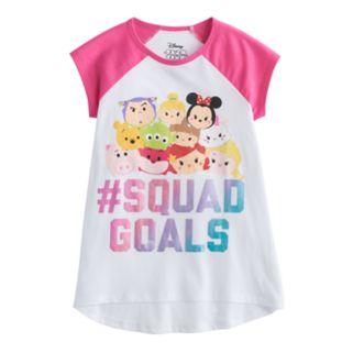 "Disney's Tsum Tsum ""#Squad Goals"" Girls 7-16 High-Low Graphic Tee"