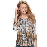 Women's World Unity Embellished Print Tee