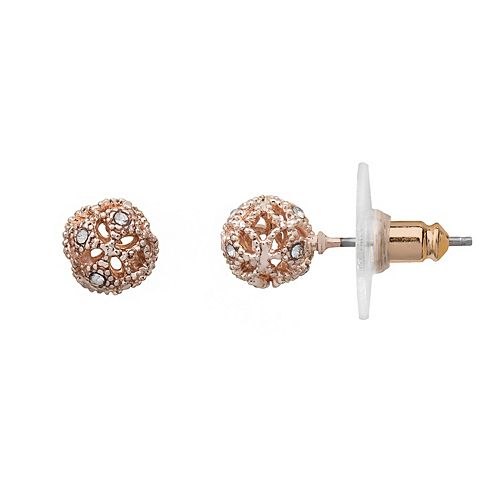 LC Lauren Conrad Openwork Ball Stud Earrings