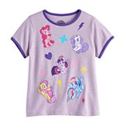Girls 7-16 My Little Pony Pinkie Pie, Rarity, Twilight Sparkle, Fluttershy & Rainbow Dash Graphic Tee