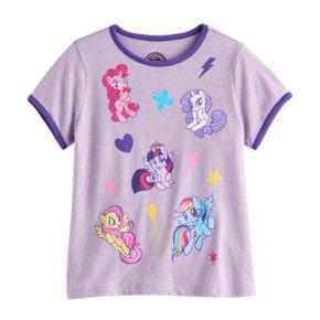 Girls 7-16 My Little Pony Pinkie Pie, Rarity, Twilight Sparkle, Fluttershy & Rainbow Dash Graphic Tee