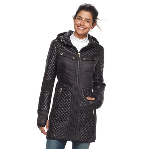 Women's FOG by London Fog Quilted Hooded Jacket