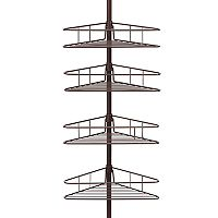 Kenney 4 tier Triangle Basket Tension Pole Shower Caddy