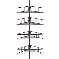 Kenney 4-Tier Triangle Basket Tension Pole Shower Caddy