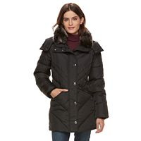 Women's TOWER by London Fog Faux-Fur Trim Puffer Coat